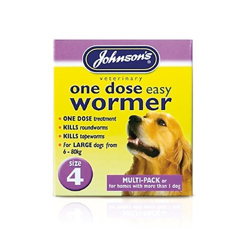 Johnsons One Dose Easy Wormer for Large Dogs Size 4 30g – Bulk Deal of 3x