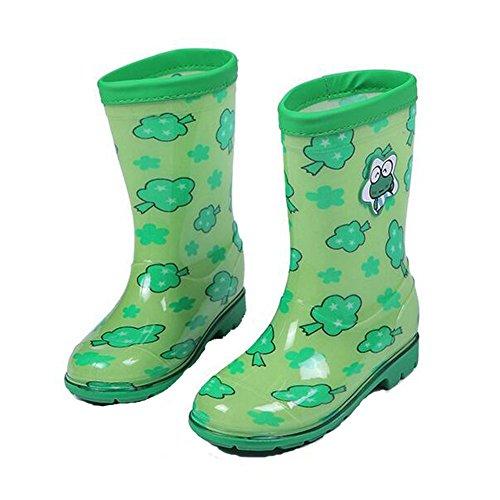 Impermeáveis Chuva derrapante Anti derrapante De Rapariga De Neve Verde Nova Sapatos com Wellington Sapatos Botas Haodasi Anti Criança qvpHxB