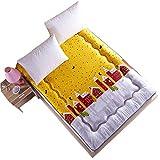 HUOXIAO Tatami Bodenmatte/Matratze Boden Schlafsack Folding Matratzenauflage Topper Slip Super Weiche Matratze Futon Matratze Perfektes Lesen und Fernsehen TV-Kissen,180X200CM