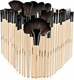 #8: Foolzy BR-6C Professional Makeup Brush Set with Travel Case, Wood (Set of 32)