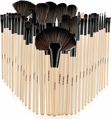Foolzy-BR-6C-Professional-Makeup-Brush-Set-with-Travel-Case-Wood-Set-of-32