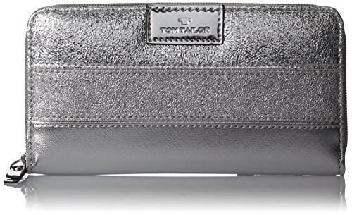 TOM TAILOR Acc Damen Miri Mirror Geldbörse, Silber (Silber), 2.5x10.5x20 cm