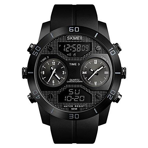 SKMEI Herren Quartz Watches Countdown Analog Digital
