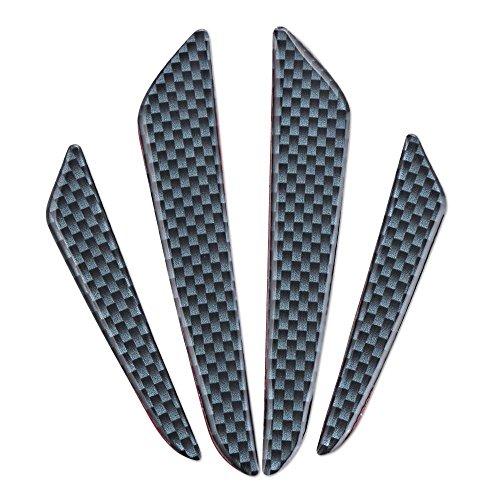 Antikollisionsschutz Türkantenschutz-Set aus 4 Teilen in Carbon-Optik schwarz Türbumper