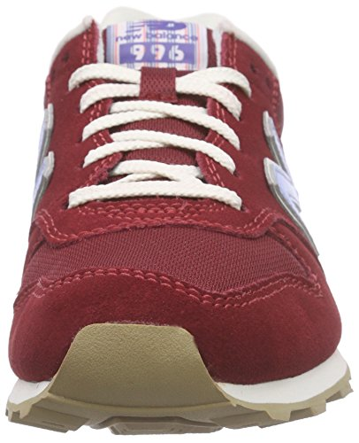 New Balance Wl996v2, Baskets Basses Femme Rouge - Rot (Red/Blue)