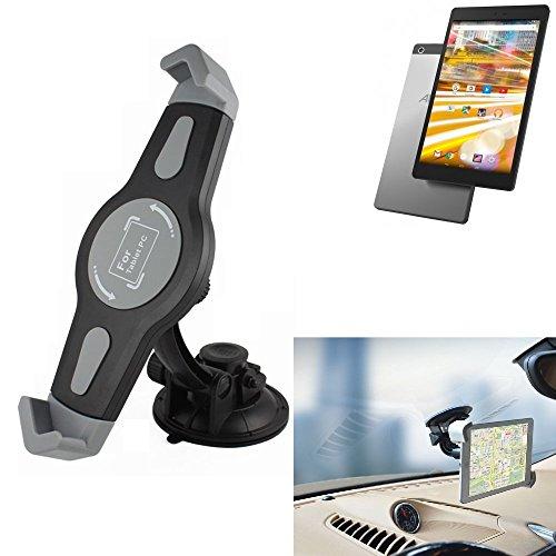 K-S-Trade Scheiben Halterung für Archos 80 Oxygen KFZ Tablet Saugnapf Auto Halterung Windschutzscheibe Holder Halter Scheibenhalterung Autohalterung