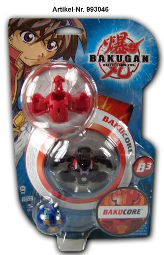 BAKUGAN Bakupearl Series Starter Pack includes Tan Centipoid, Grey Hammer Gorem and Red Mystery Figure