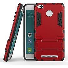 Xiaomi Redmi 3 Pro Heavy Duty Funda DWaybox 2 in 1 Hybrid Armor Hard Espalda Funda Carcasa para Xiaomi Redmi 3 Pro / Redmi 3 (Marsala Red)