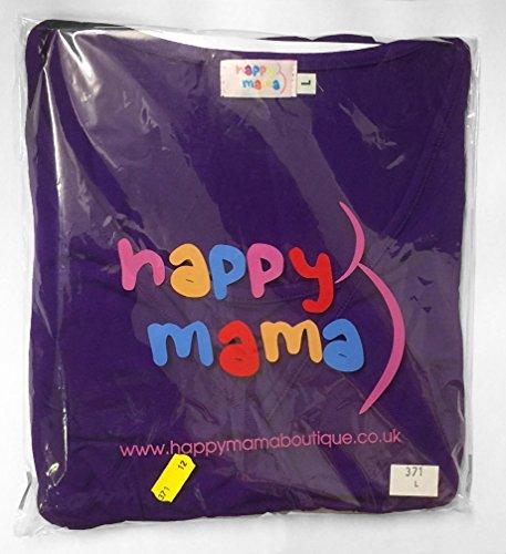 Happy Mama Femme Top 2in1 de maternité. T-shirt chemisier d'allaitement. 618p Jeans