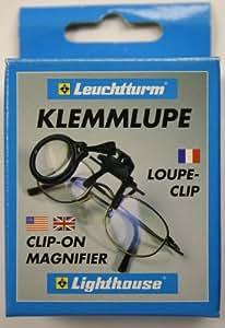 Leuchtturm Loupe-clip pour montures à lunettes, grossit 5x