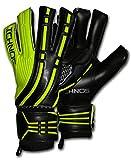 Ichnos Arcos Nero / Verde guanti da portiere calcio con stecche