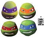 Teenage Mutant Ninja Turtles (Les Tortues Ninja) (TMNT 2015) Masque en carton de 2D Packung von 4 (Leonardo, Michelangelo, Donatello et Raphael) - Comprend une photo étoile (15x10cm)