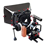 Filmcity Video Camera Cage Top cage handle with cage bracket MB-600 Matte Box Quick release adapter plate for fluid head tripod stand camera DSLR DV Sony Nikon Canon Panasonic Lumix