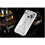 "Crystal Clear Case for iPhone 7 Plus,Glitter Silicone Case for iPhone 7 Plus,Leeook Luxury Bling Glitter Star Shiny Fairy Girl Pattern Slim Fit Soft Gel Transparent Flexible Tpu Bumper Gel Skin for iPhone 7 Plus 5.5"" + 1 x Free Black Stylus-Star,Silver"