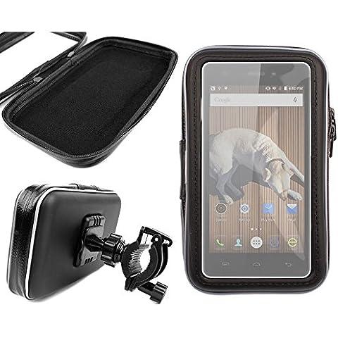 DURAGADGET Montaje Giratorio Para Bici De Montaña Y Funda Para Smartphone Doogee X5 / X5 Pro / X5