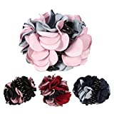 4 Pack Large Women Hair Clips Korean Beauty Ribbon Rose Flower Bow Jaw Clip Barrette Hair Claws