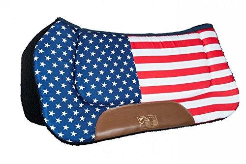HKM TEXAS Western Westernpad -Stars & Stripes-, Flag USA, Vollblut/Warmblut