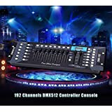 Vrct 192CH Master 240 Scenes DMX 512 Controller Board DJ Stage Light & LED Lamp Controller for Home Entertainment Stage Lighting Effect