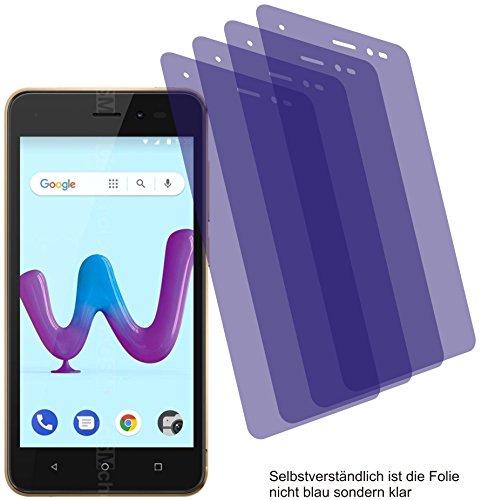 4X Crystal Clear klar Schutzfolie für Wiko Sunny 3 Bildschirmschutzfolie Displayschutzfolie Schutzhülle Bildschirmschutz Bildschirmfolie Folie