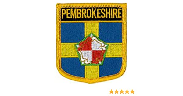 """2 1//2/"""" X 2 3//4/"""" Shield Embroidered Patch 6CM X 7CM Bedfordshire County"""