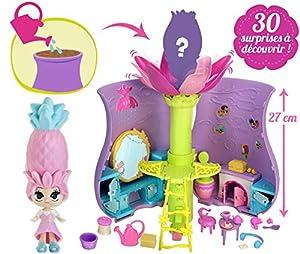 BANDAI SK02255 - Jardín Secret Playset en Forma de jarrón y muñeca Blume para coleccionar, 30 sorpresas Incluidas, diseño de Flores