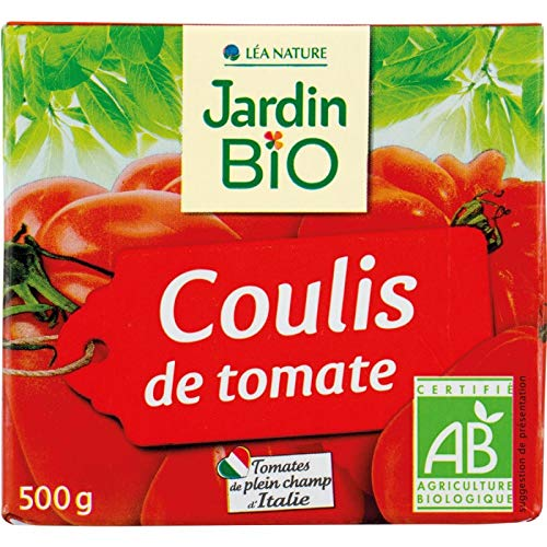 Jardin Bio - Coulis De Tomate Bio 500Ml - Lot De 5 - Livraison Rapide En France - Prix Par Lot