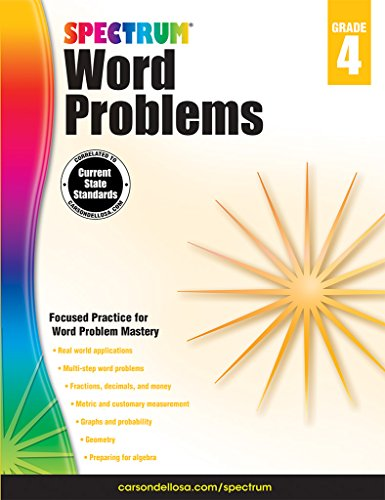 Spectrum Word Problems, Grade 4