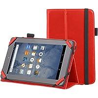 "AmazonBasics - Funda con soporte para Kindle Fire, 7"" (17,7 cm) (modelo de 2015), Roja"