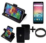 K-S-Trade® Case Schutz Hülle Für -Allview V3 Viper- + Bumper Handyhülle Flipcase Smartphone Cover Handy Schutz Tasche Walletcase Schwarz (1x)
