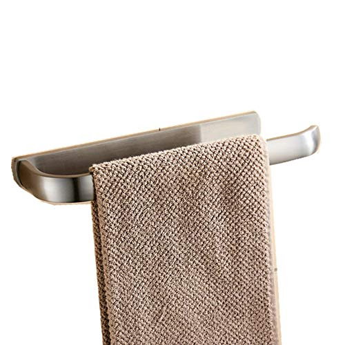 BigBig Home Handtuchhalter Messing Handtuchring Silber Wandmontage für Badezimmer Dusche, Gebürstet Nickel Finished -