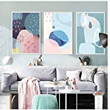 Watercolor Canvas Painting Lovely Cartoon Nordic Art Prints Modern Poster Watercolor Wall Picture Room Home Decor -50x70cm No Frame