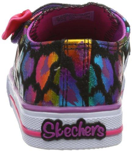 Skechers - Scarpe da ginnastica, Bambina Nero (Noir (Bkmt))