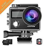 Campark X20 Action Cam 4K 20MP WiFi Touchscreen Wasserdichte Sport Kamera Unterwasserkamera mit Dual...