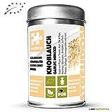 Naturteil BIO Knoblauch minced, granuliert - 1 x 50 g Dose - Bio - Gewürz in Streudose, Gewürzdose | Organic Garlic minced
