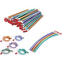 AHG 30 Pcs Soft Flexible Bendy Pencils Magic Bend Kids Children School Fun Equipmen