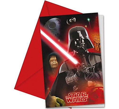 Invitations Anniversaire Star Wars (x6)