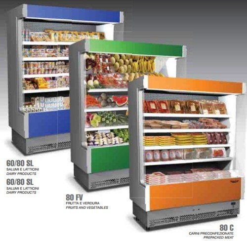 Präsentationsständer Wandbild Kühlschrank Kühlbox Wurst Topfen cm 88x 60x - Wandbilder Kühlschrank