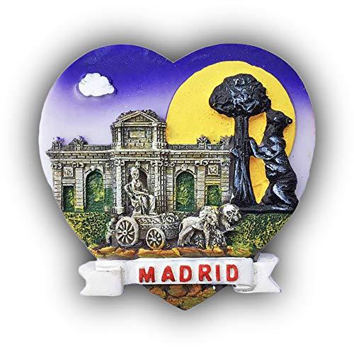 Madrid Spanien 3D Herzförmigen Kühlschrank Magnet Touristischen Souvenirs Harz Magnetische Aufkleber Kühlschrankmagnet Home & Kitchen Dekoration aus China (Magnet Madrid)