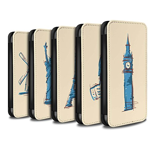 Stuff4 Coque/Etui/Housse Cuir PU Case/Cover pour Apple iPhone 8 / Big Ben / Londre Design / Monuments Collection Multipack