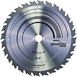Bosch Professional 2608640682 Lames de scies circulaires Speedline Wood, Grey, 315 x 30 x 3,2 mm, 28
