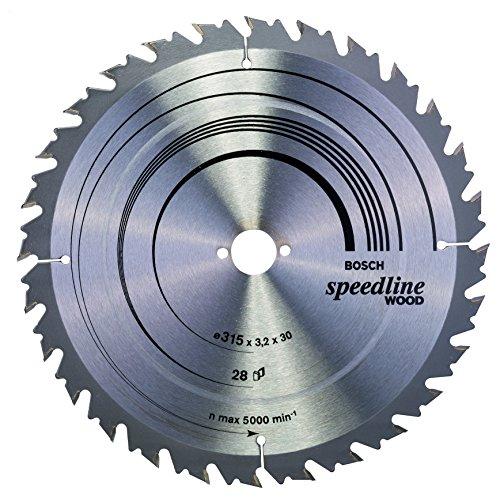 Bosch Professional Zubehör 2608640682 Kreissägeblatt Speedline Wood 315 x 30 x 3,2 mm, 28