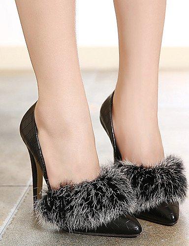 WSS 2016 Chaussures Femme-Habillé / Soirée & Evénement-Noir-Talon Aiguille-Bout Pointu-Chaussures à Talons-Polyuréthane black-us8.5 / eu39 / uk6.5 / cn40