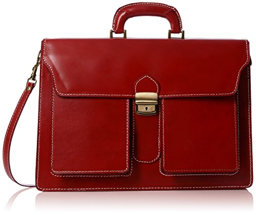 Bags4Less Unisex-Erwachsene Pisa Aktentasche Laptop Tasche, Rot (Rot), 14x30x40 cm (Aus Leder Solo-laptop-tasche)