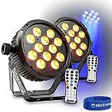 Pair Beamz BT300 LED Flat PAR Lights Truss Uplighters Colour RGBWA-UV 12x12W