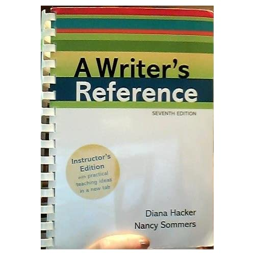 Writer's Reference [instructor's Ed.] by Diana Hacker (2011-01-01)