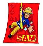 Kuscheldecke Feuerwehrmann SAM Fleecedecke 130x160cm 100%Polyester