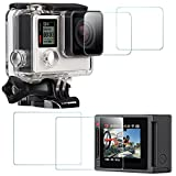 Screen Protector for GoPro Hero 4 Black/Silver...