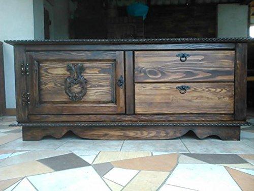 DECOCRAFT Holz Storage Schrank Trunk Einheit Vintage Decke Brust Regal Möbel (SU) (Kiefer Decke-boxen)