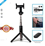 #10: ZAAP® (USA) NUSTAR6 Aluminium Premium Bluetooth Selfie Stick with In-built Tripod | | 10000+ clicks per charge | Universal Compatible For iPhone, Andriod & other Smartphones (Black)