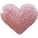 VOSAREA Strass Stile Auto Base Profumo Forma Cuore Clip Auto Veicolo Interno Cruscotto Decorazione Regalo Donna (Rosso)
